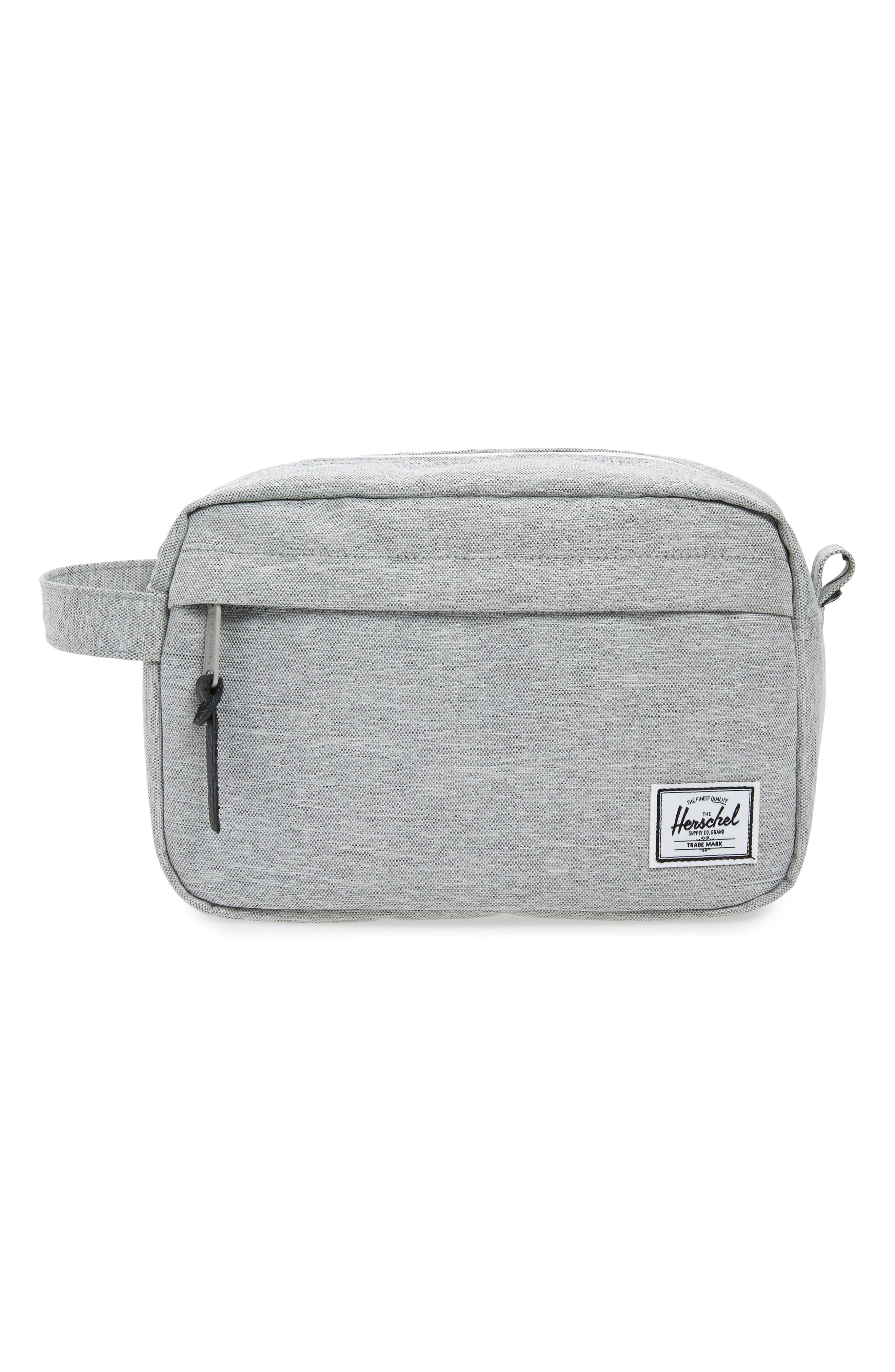 Chapter Toiletry Case, Main, color, LIGHT GREY CROSSHATCH