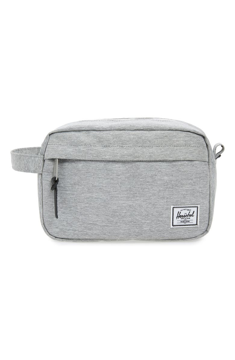 HERSCHEL SUPPLY CO. Chapter Toiletry Case, Main, color, LIGHT GREY CROSSHATCH