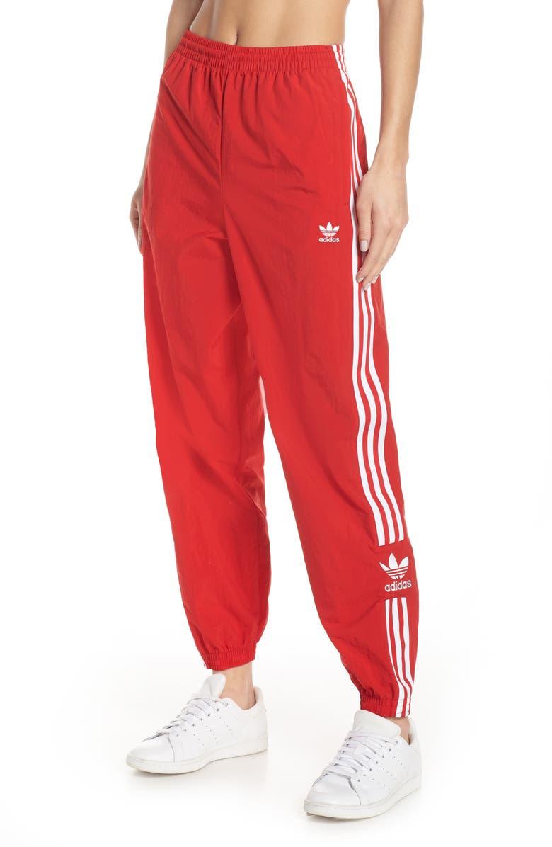 ADIDAS ORIGINALS Adicolor Lock Up Woven Track Pants, Main, color, SCARLET