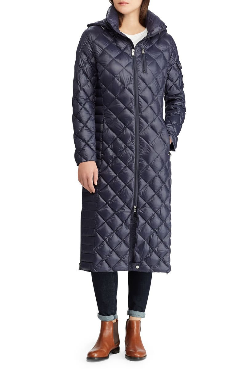 LAUREN RALPH LAUREN Packable Quilted Down Coat, Main, color, 412