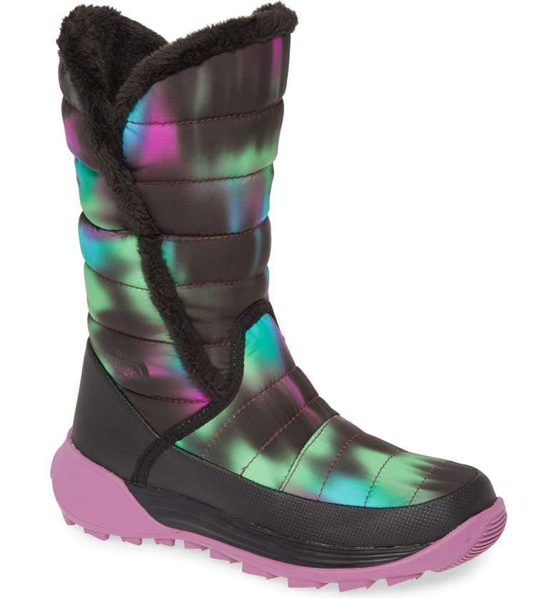 THE NORTH FACE Amore II Water-Resistant Winter Boot, Main, color, BLACK/ IRIS ORCHID PURPLE
