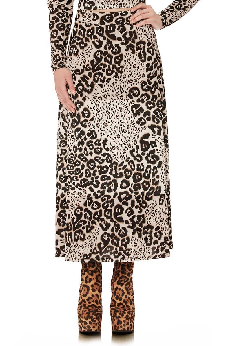AFRM Sophia Midi Skirt, Main, color, LEOPARD PATCHWORK