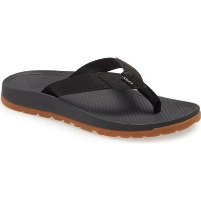Chaco Lowdown Flip Flop, Black