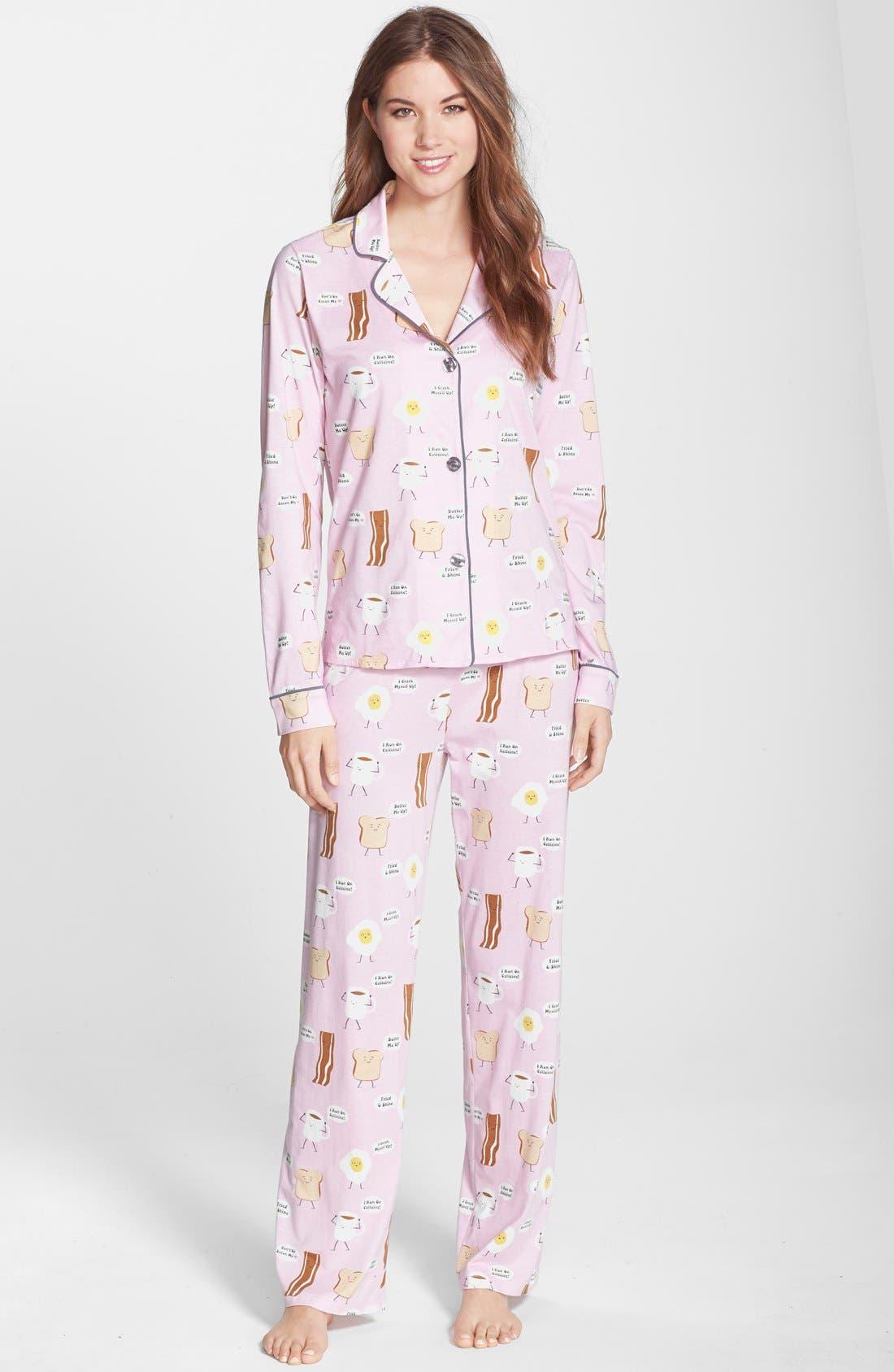,                             Print Jersey Pajamas,                             Main thumbnail 31, color,                             630