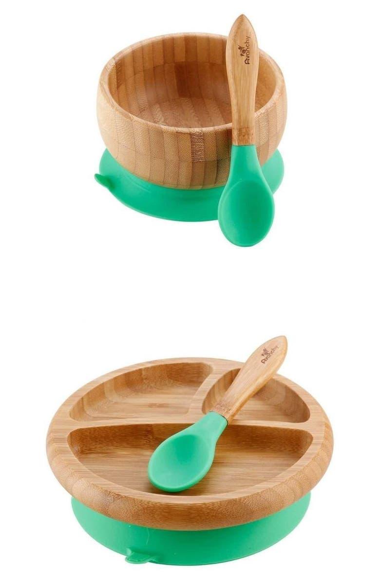 AVANCHY Rainbow Baby Feeding Gift Set, Main, color, GREEN