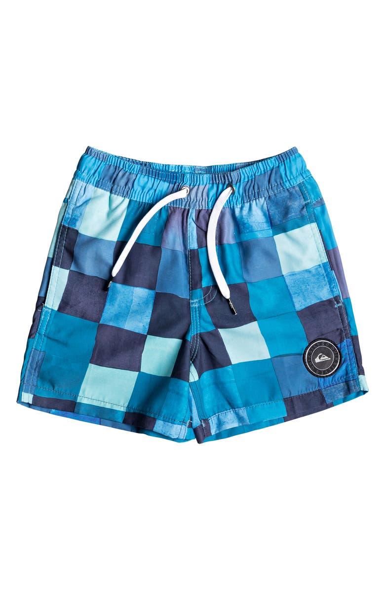 QUIKSILVER Check Volley Shorts, Main, color, MALIBU