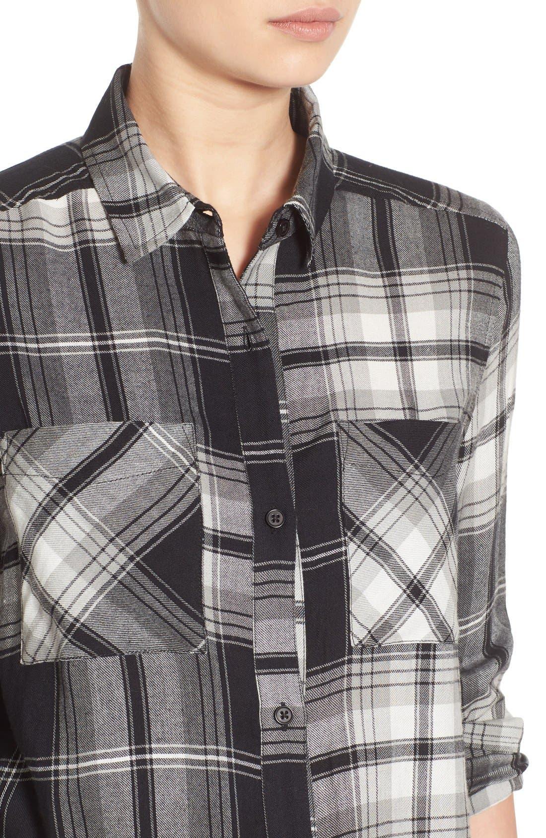 ,                             Plaid Tunic Shirt,                             Alternate thumbnail 5, color,                             001