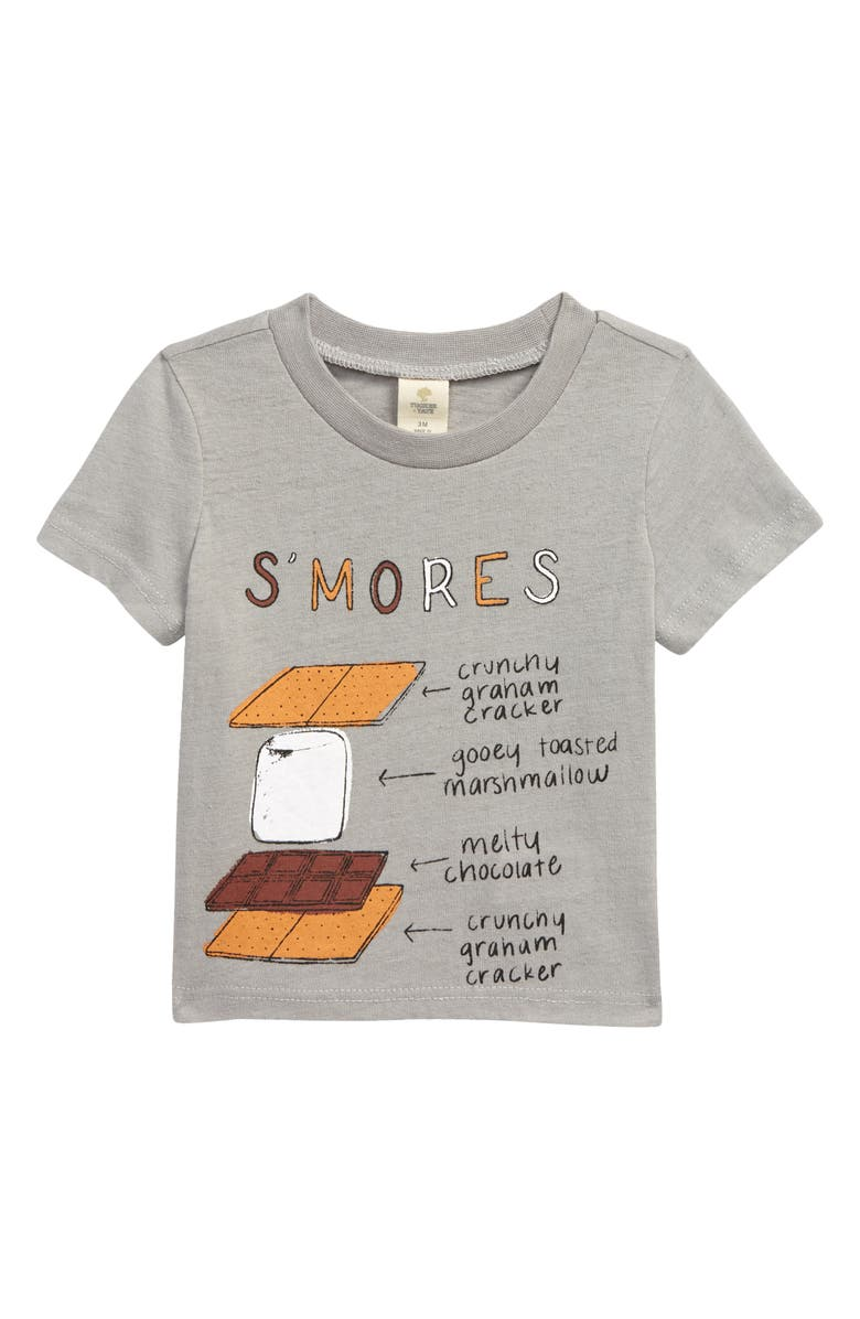 TUCKER + TATE Graphic Tee, Main, color, GREY ALLOY HEATHER SMORES