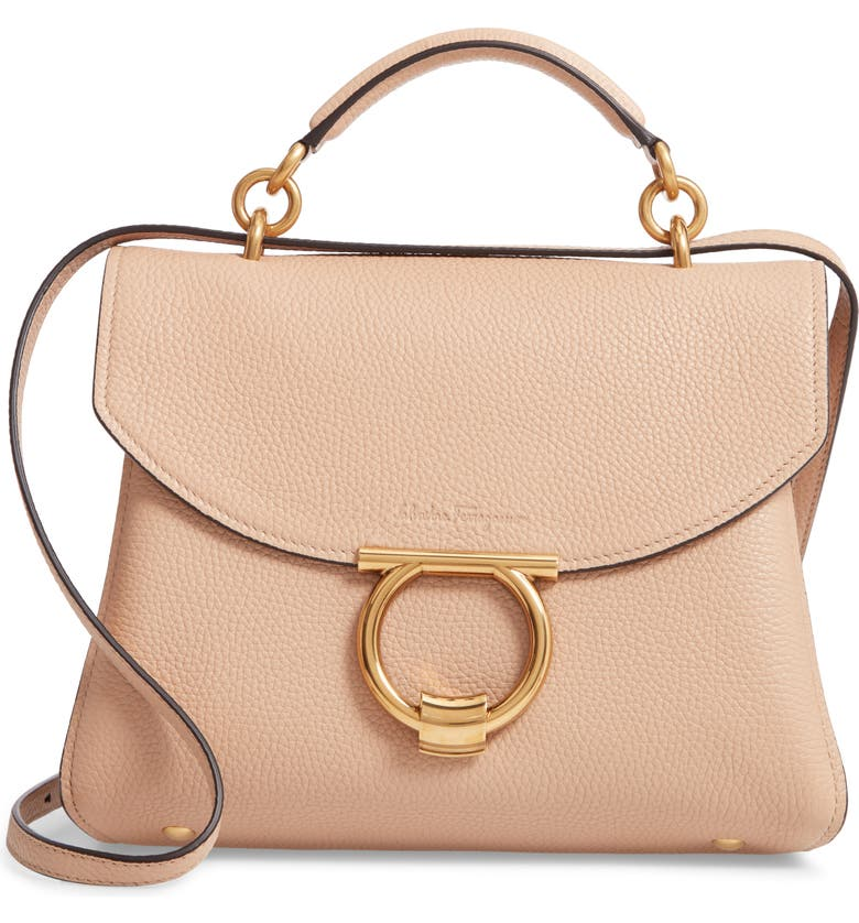 Salvatore Ferragamo Small Margot Leather Top Handle Bag