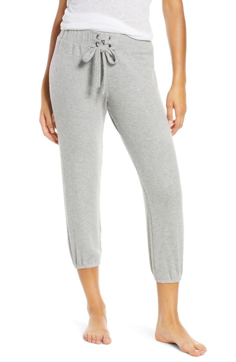 PROJECT SOCIAL T Paris Pajama Jogger Pants, Main, color, HEATHER GREY