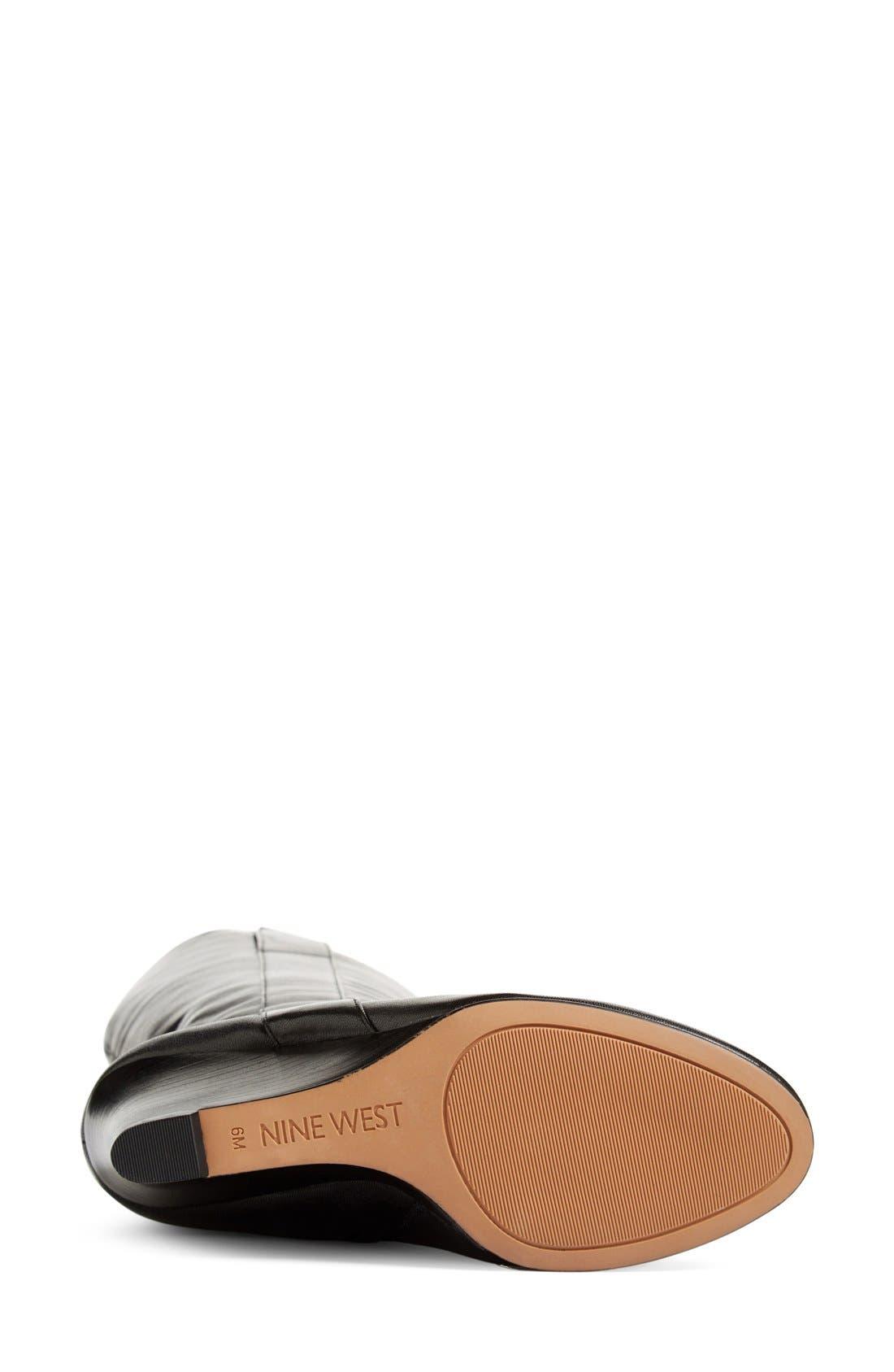 ,                             'Oran' Tall Wedge Boot,                             Alternate thumbnail 10, color,                             003