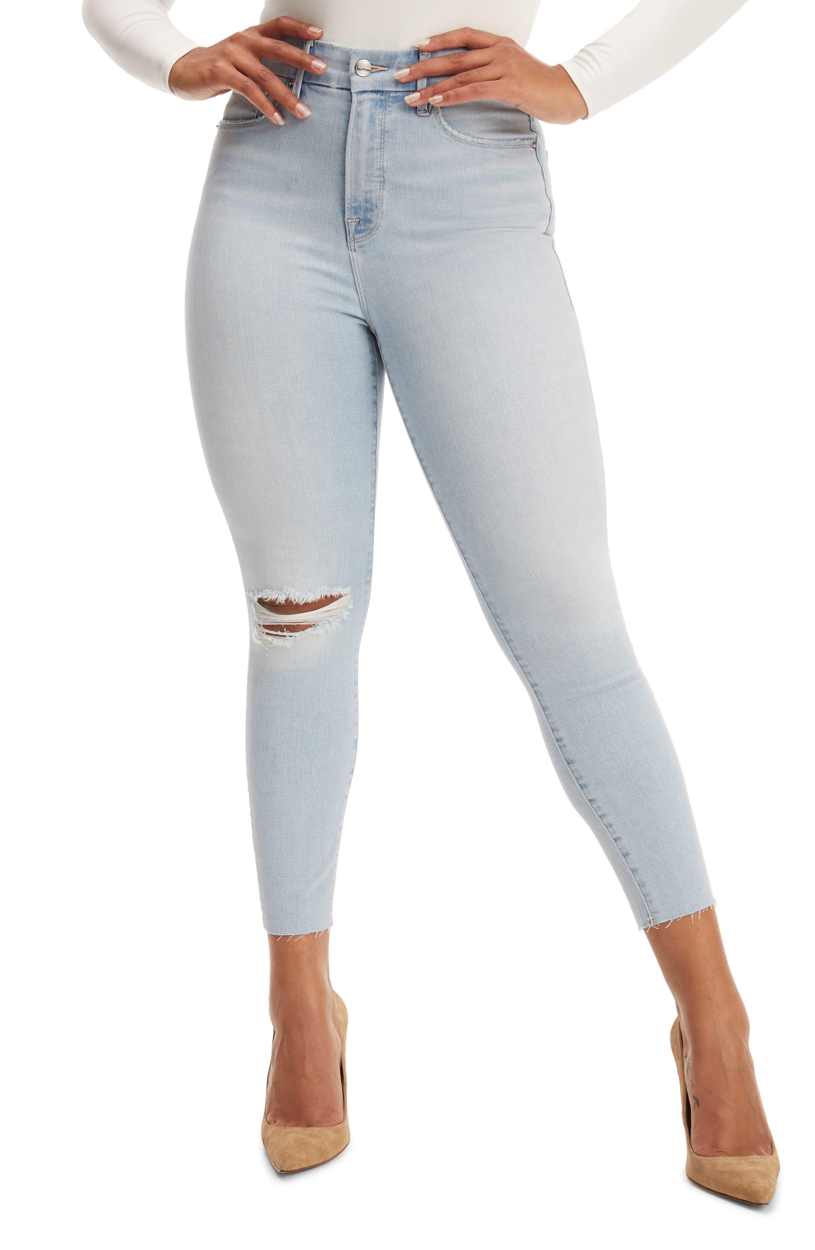 Good Waist Crop Raw Edge Skinny Jeans