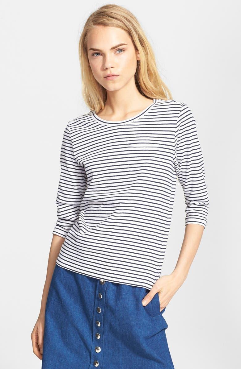 A.P.C. 'Mariniere Lagune' Stripe Jersey Shirt, Main, color, 100
