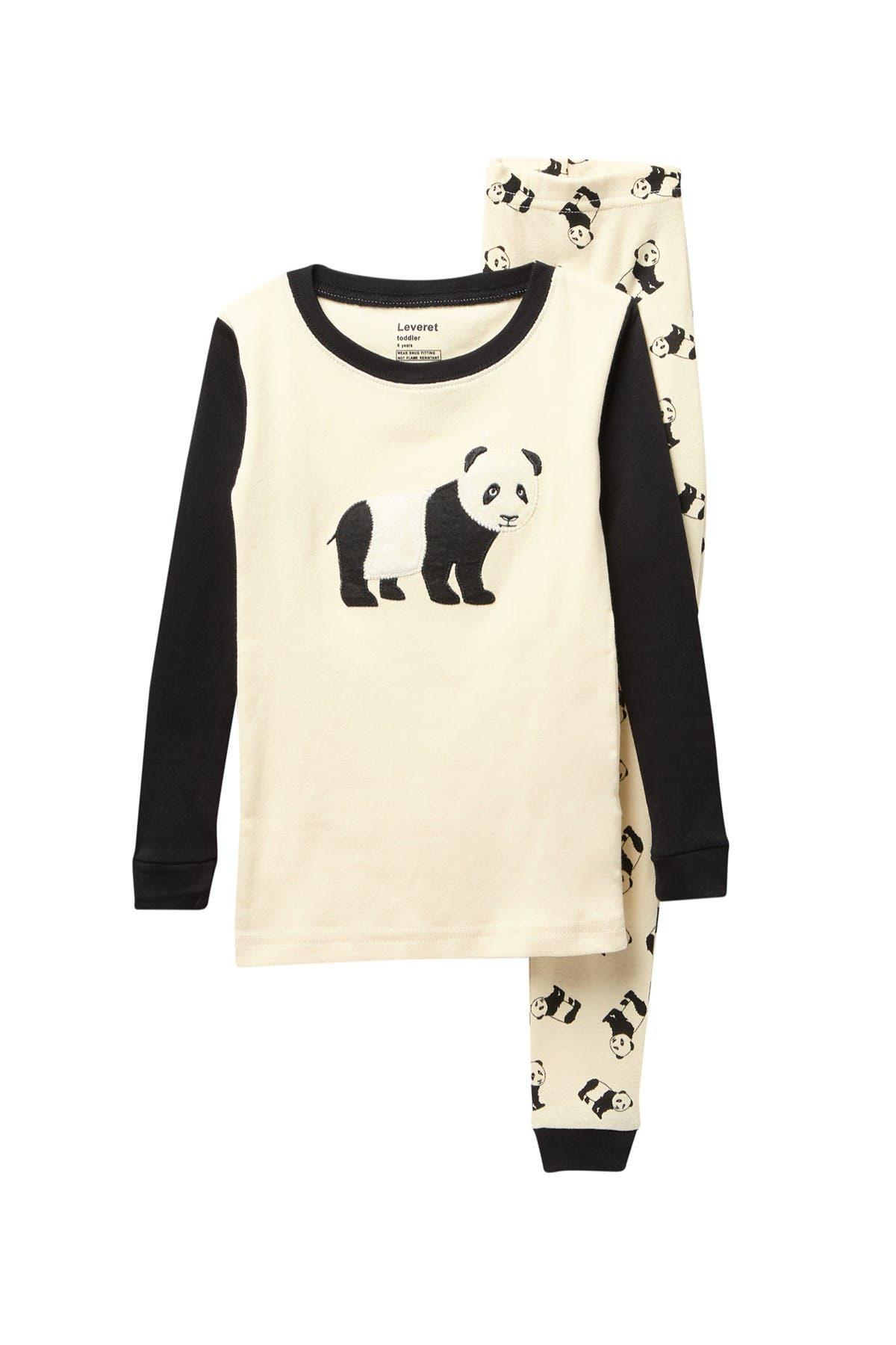 Image of Leveret Panda 2-Piece Pajama Set
