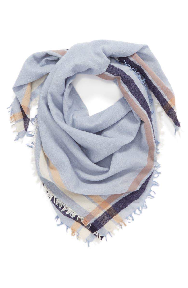 RAG & BONE 'Addie' Square Wool Scarf, Main, color, 400