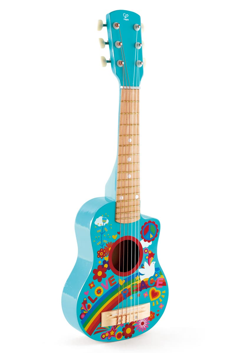 HAPE Flower Power Guitar, Main, color, POWDER BLUE
