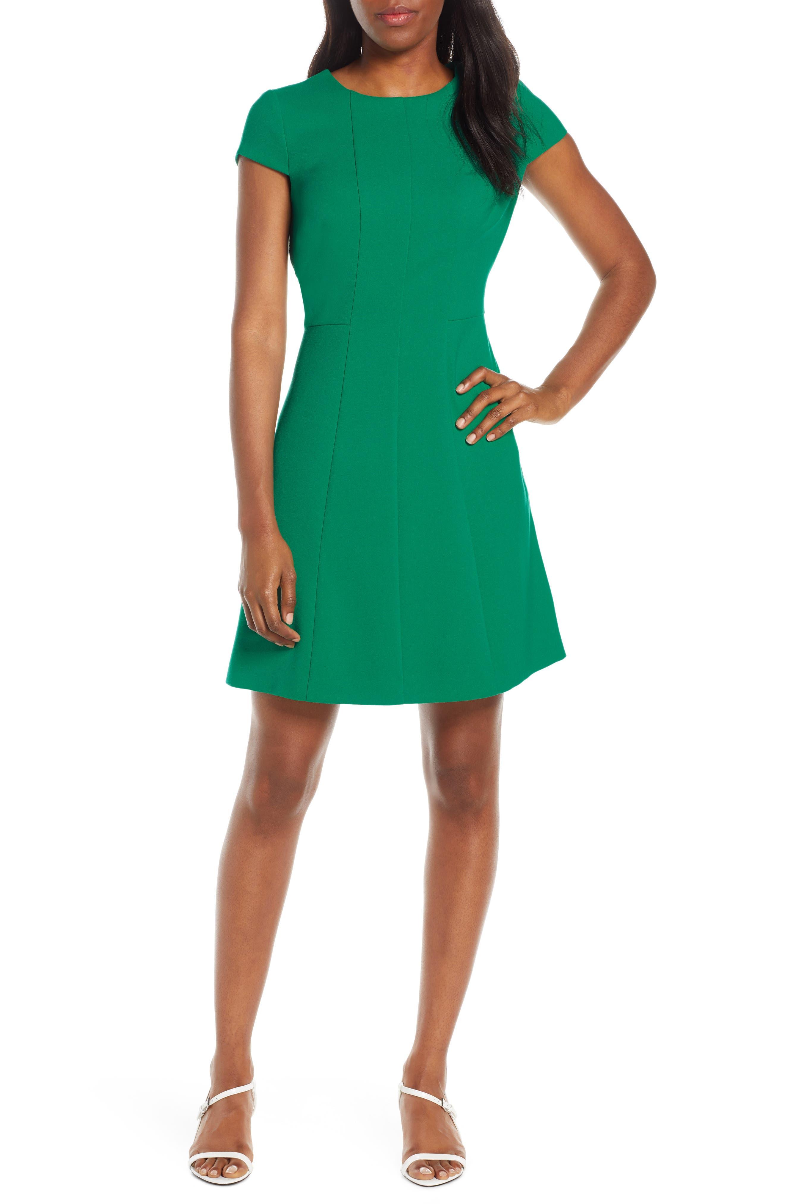 Harper Rose Fit & Flare Dress, Green