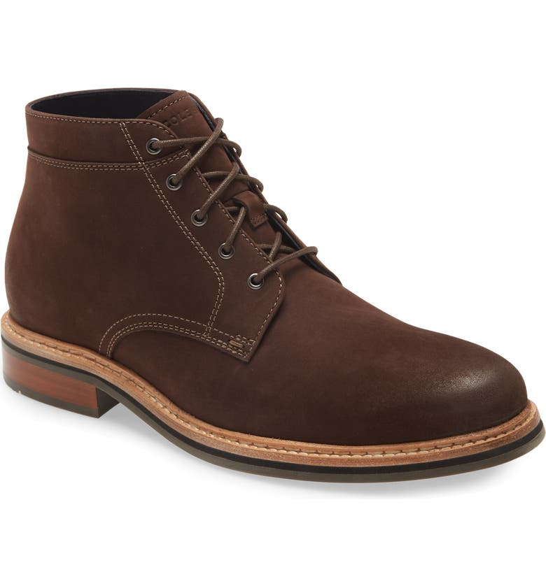 COLE HAAN Frankland Grand Waterproof Chukka Boot, Main, color, BROWN NUBUCK WP