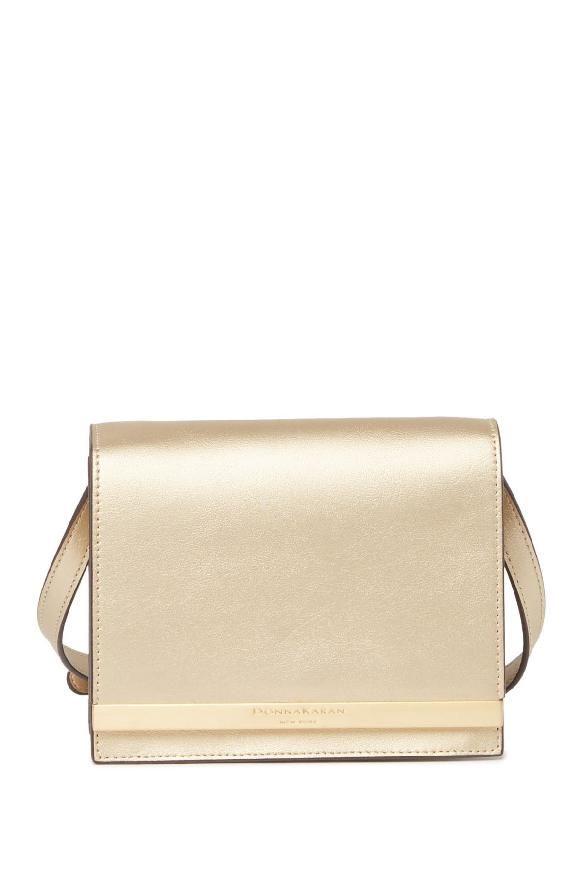 Image of Donna Karan Mally Leather Crossbody Bag