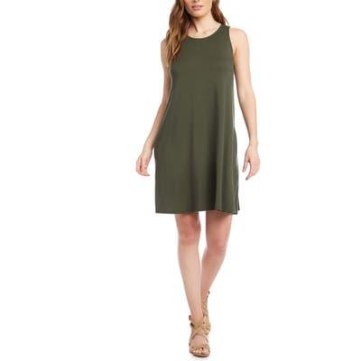 Karen Kane Chloe Sleeveless Stretch Jersey Swing Dress, Green