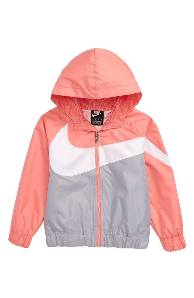 NIKE Swoosh Windrunner Water Resistant Hooded Jacket, Main, color, 661