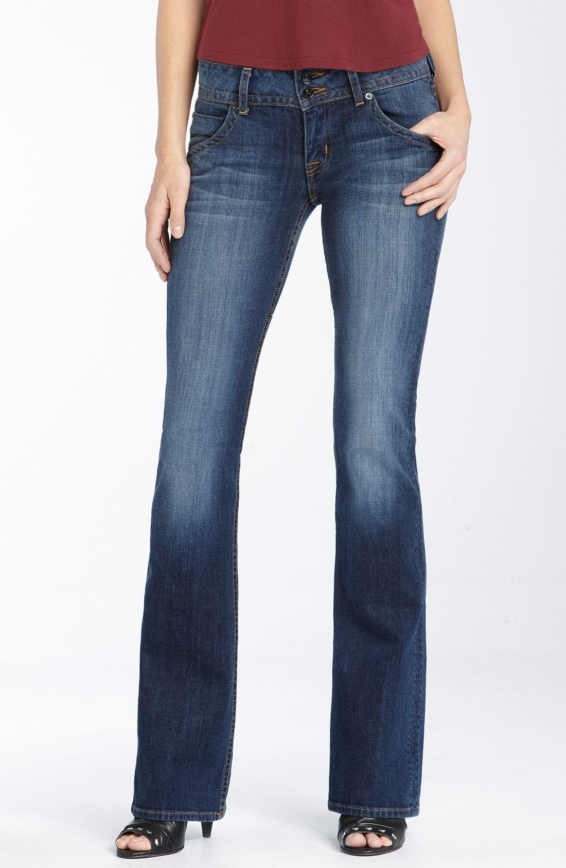 ,                             Signature Flap Pocket Bootcut Jeans,                             Main thumbnail 48, color,                             450