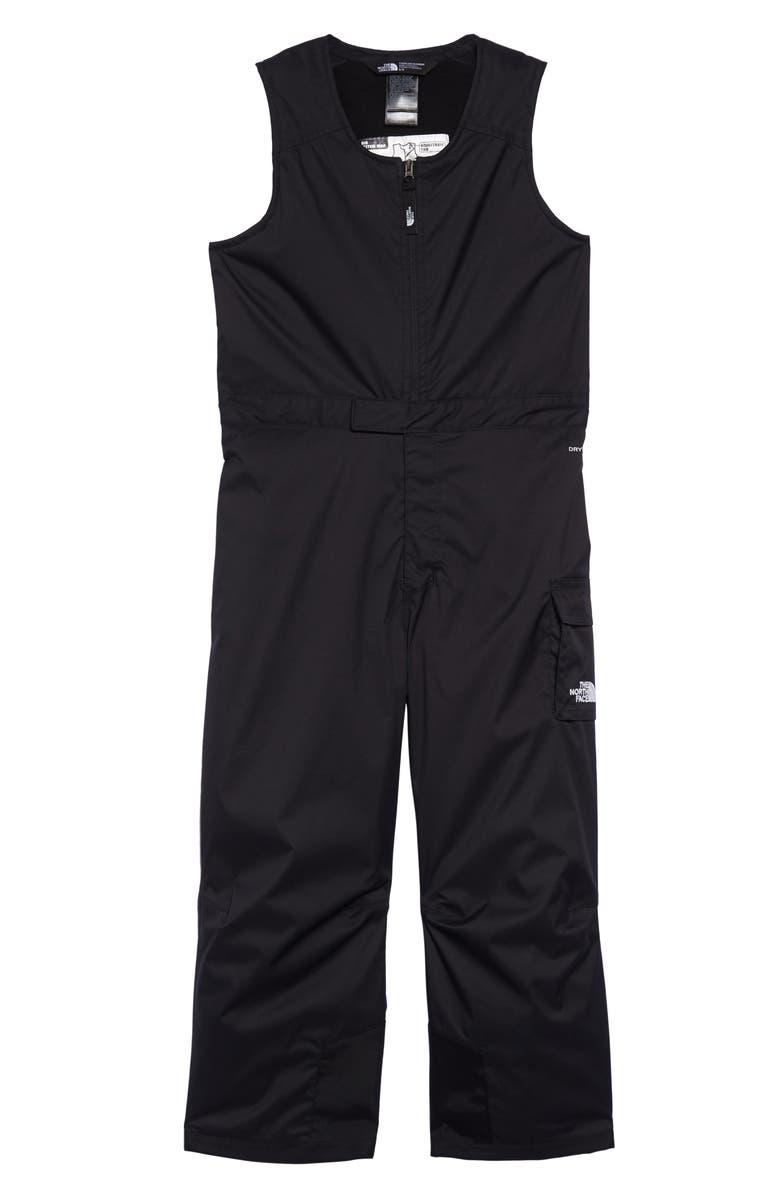 THE NORTH FACE Waterproof Heatseeker<sup>™</sup> Insulated Bib Snowsuit, Main, color, TNF BLACK/ TNF BLACK