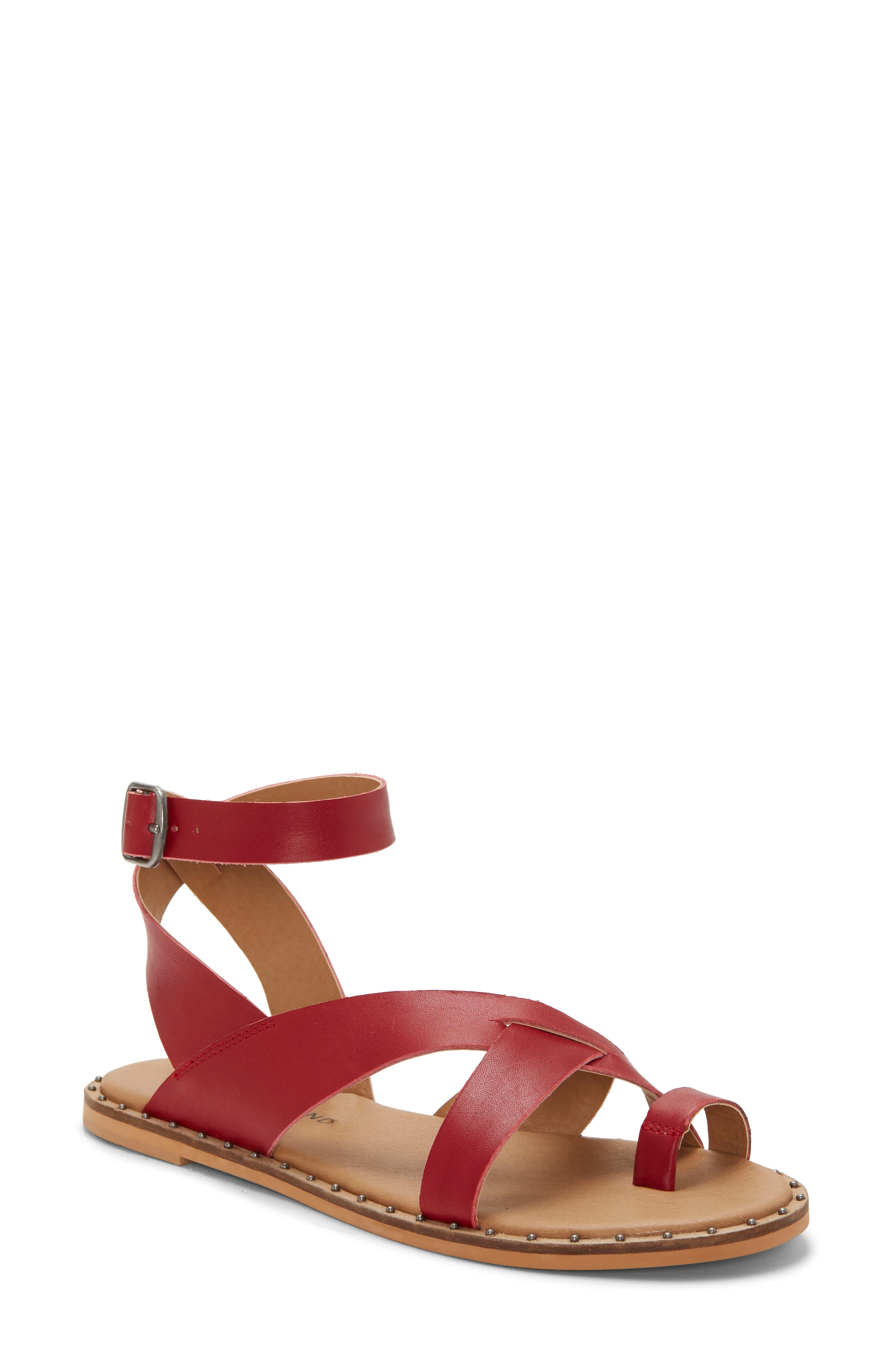 Lucky Brand Farran Toe Loop Sandal, Red