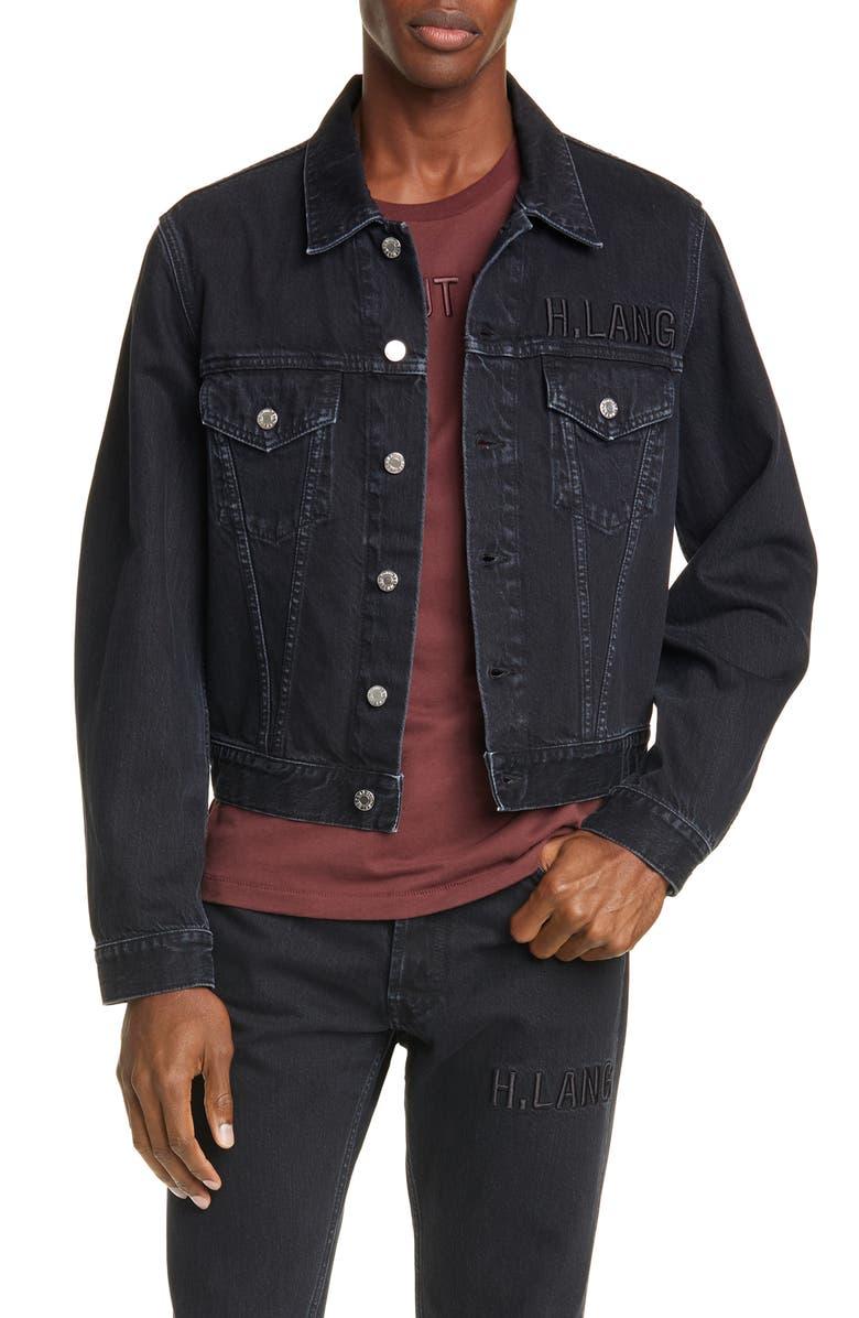 HELMUT HELMUT LANG Helmut Lang Masc Denim Trucker Jacket, Main, color, BLACK STONE