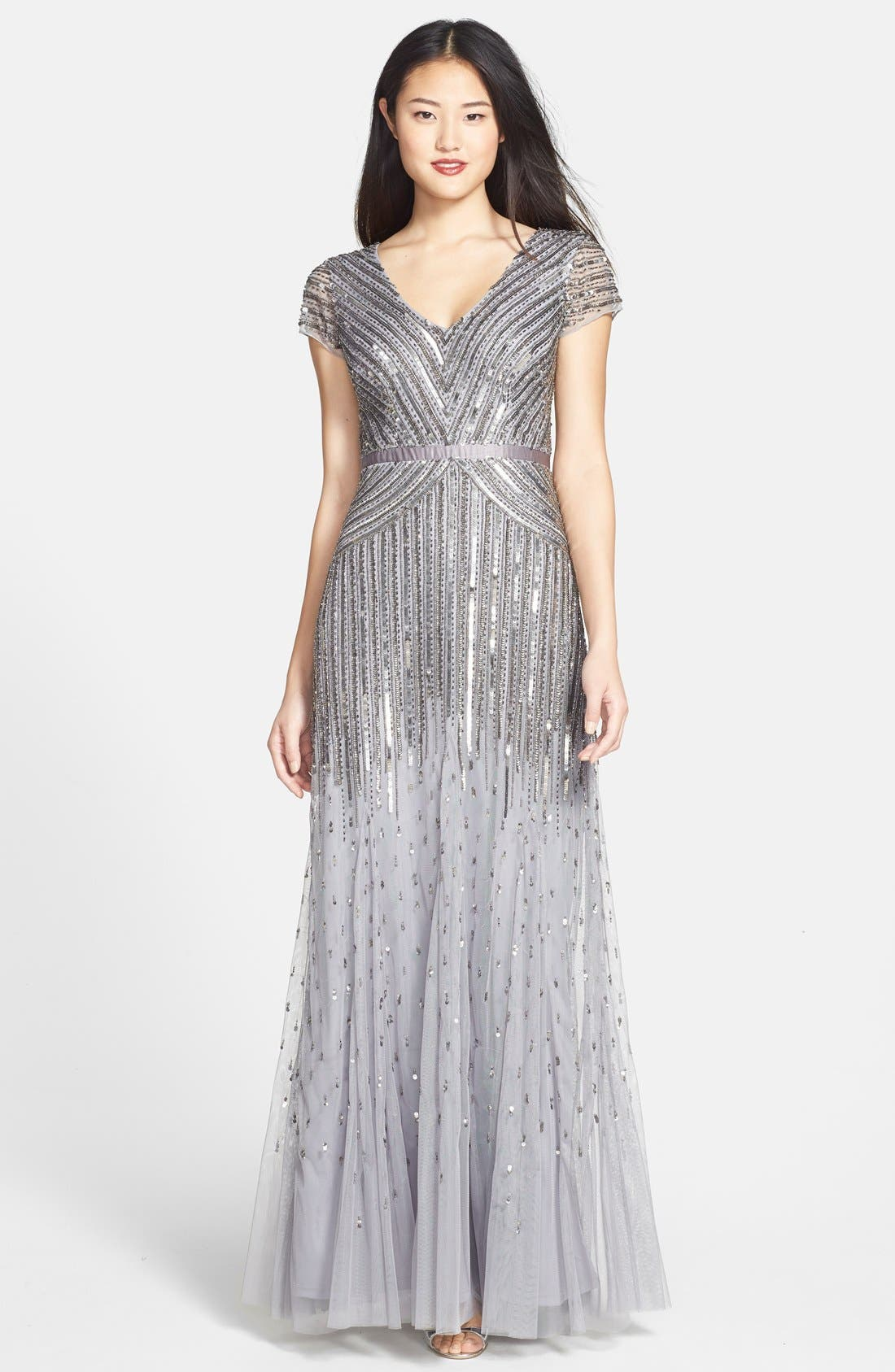 ,                             Embellished Mesh Gown,                             Main thumbnail 4, color,                             044
