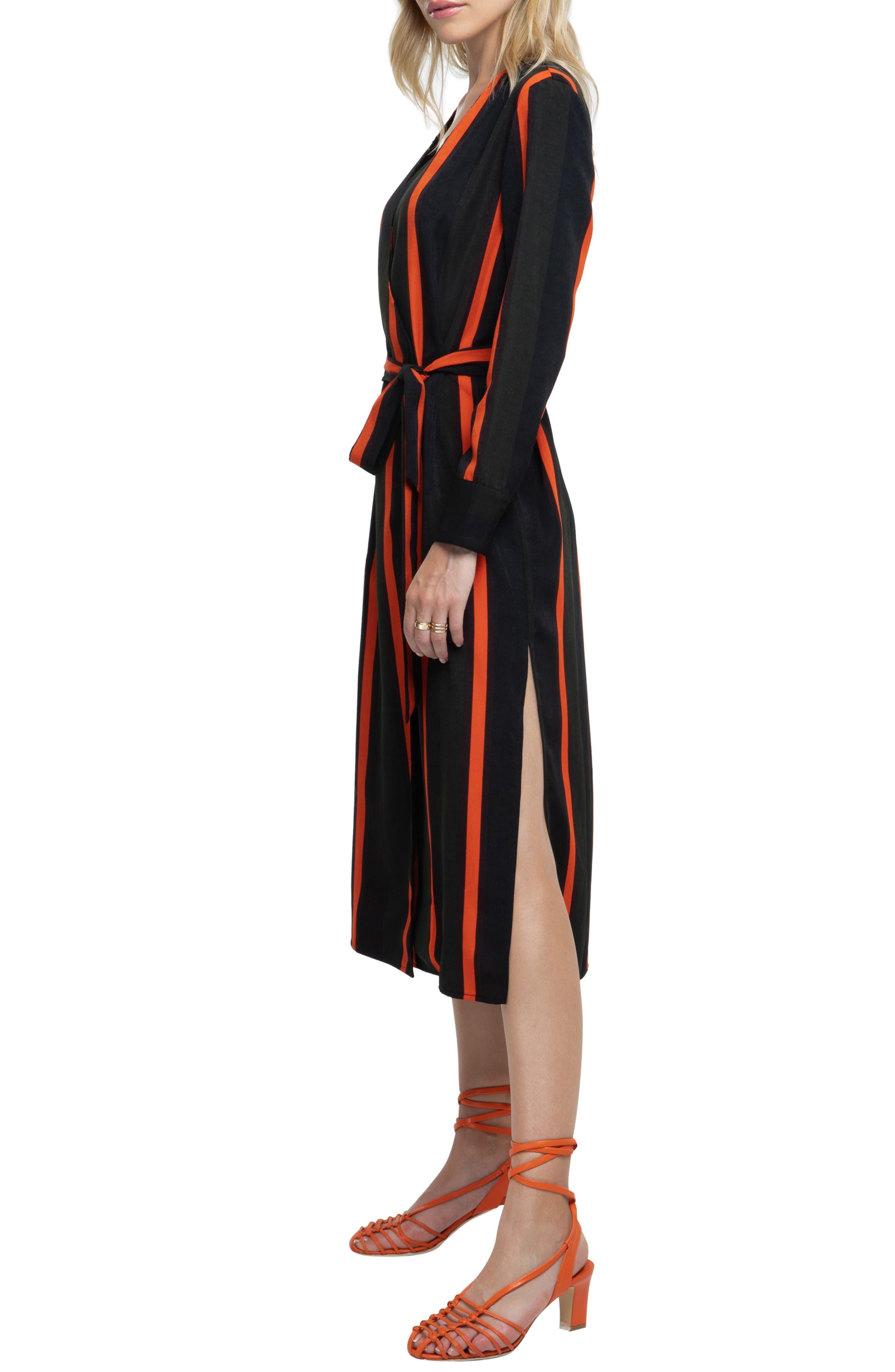 ,                             Stripe Wrap Dress,                             Alternate thumbnail 3, color,                             300