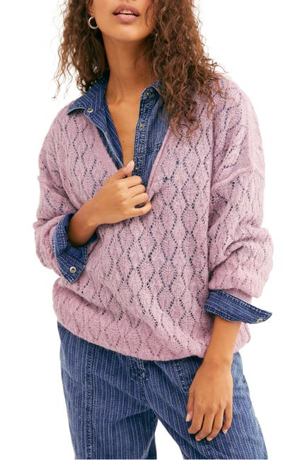 Image of Free People Say Hello Oversized Tunic Sweater