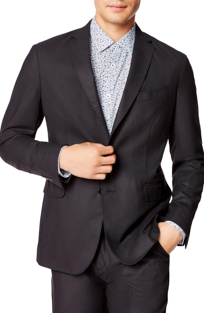 GOOD MAN BRAND Slim Fit Solid Wool Sport Coat, Main, color, BLACK