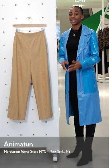 Linen Blend Crop Wide Leg Pants, sales video thumbnail