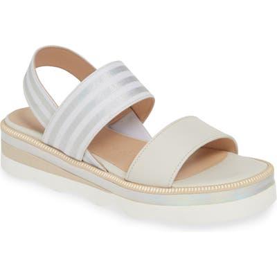 Wonders Platform Sandal, White