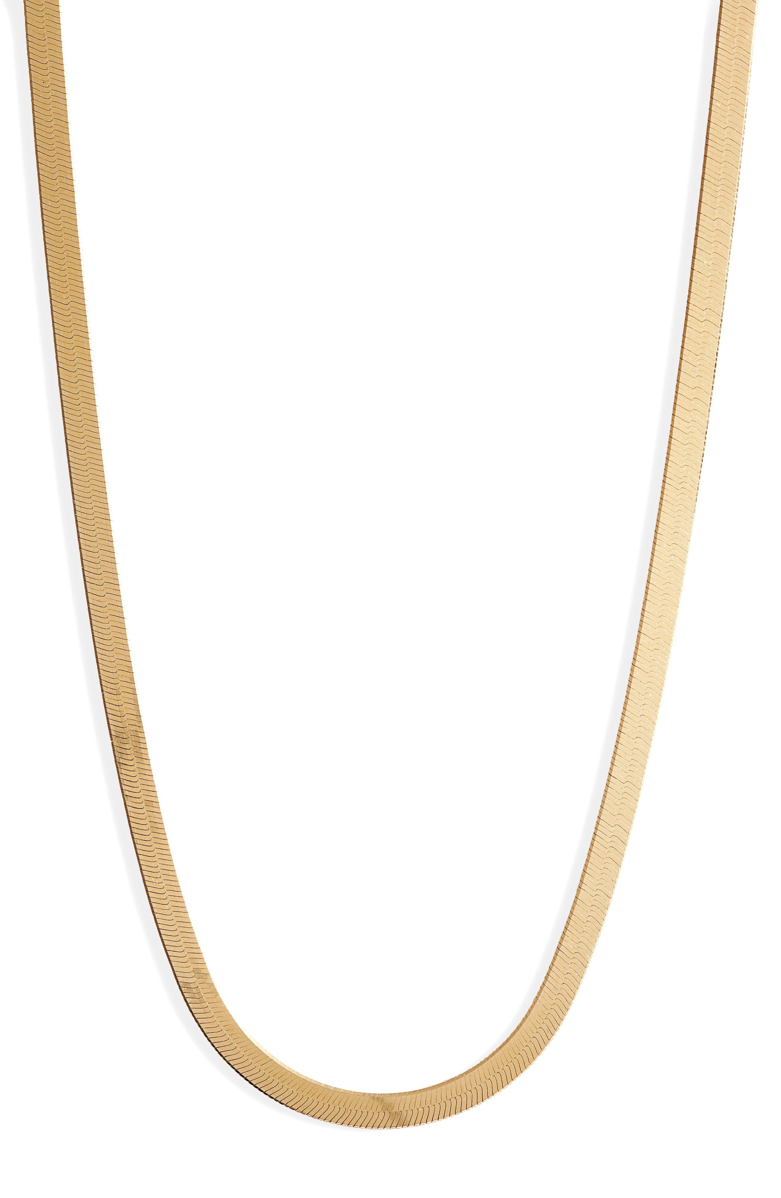 Women's Argento Vivo Herringbone Chain Necklace