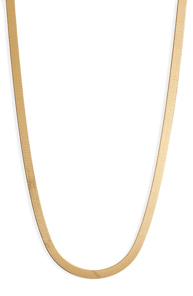 ARGENTO VIVO STERLING SILVER Argento Vivo Herringbone Chain Necklace, Main, color, GOLD