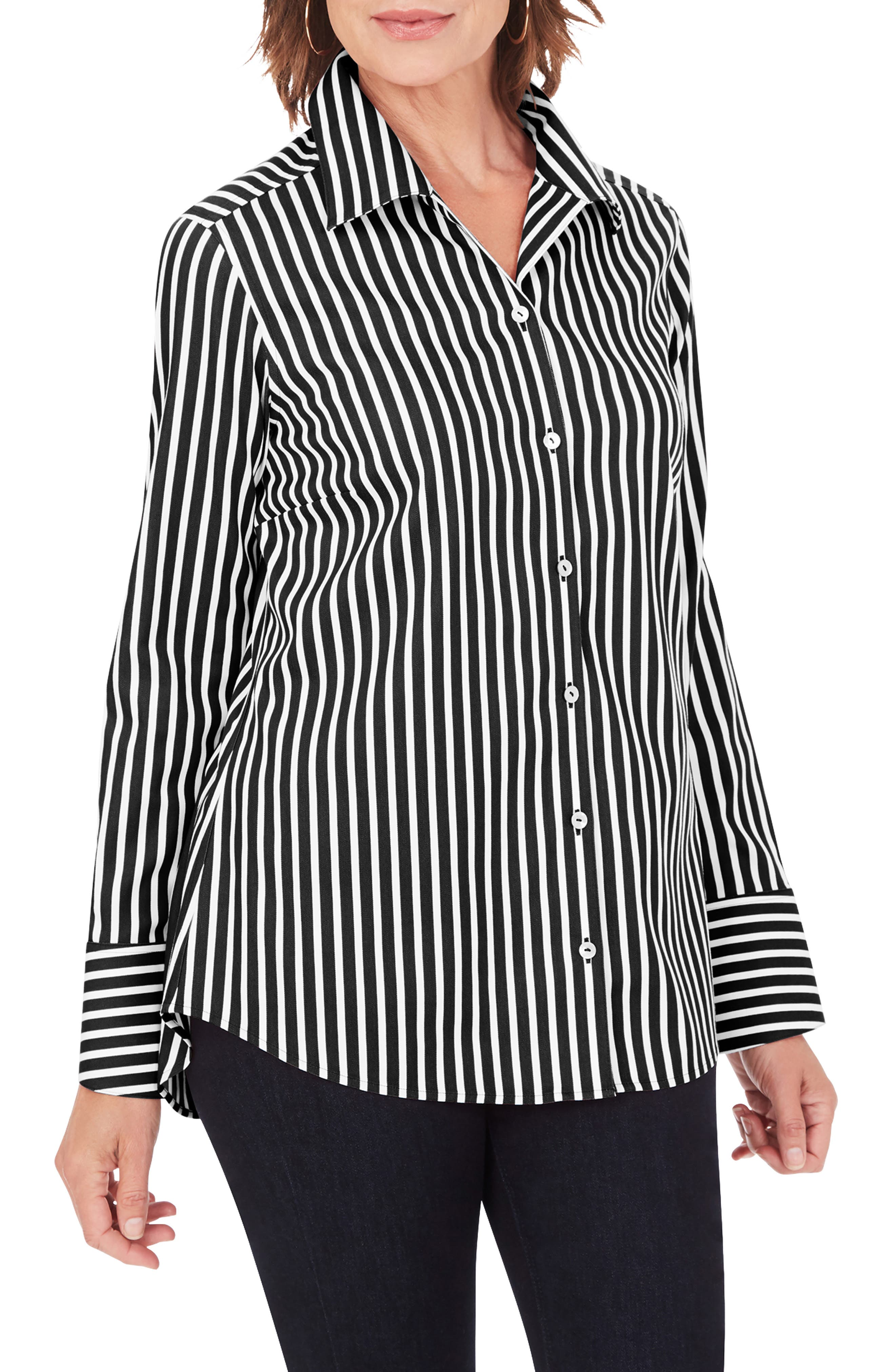 Jane Stripe Button-Up Shirt