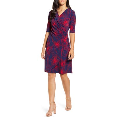 Tommy Bahama Vista Blooms Wrap Front Dress, Red
