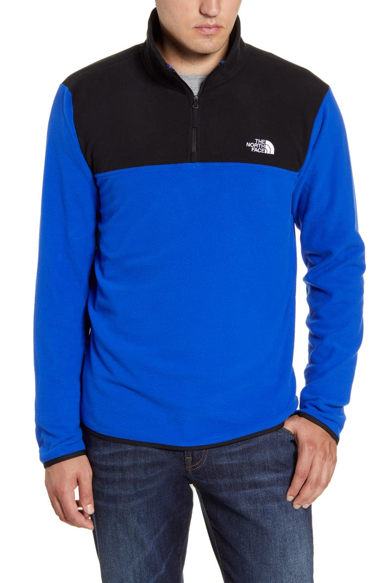 THE NORTH FACE TKA Glacier Quarter Zip Fleece Pullover, Main, color, TNF BLUE/ TNF BLACK