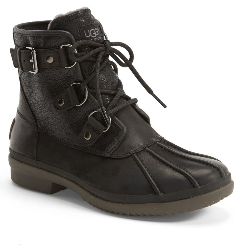 UGG<SUP>®</SUP> Cecile Waterproof Boot, Main, color, 001