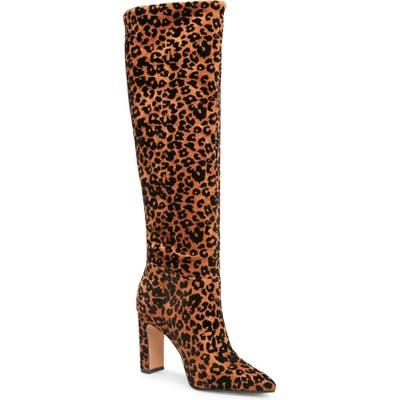 Steven New York Joanis Animal Print Tall Boot, Brown