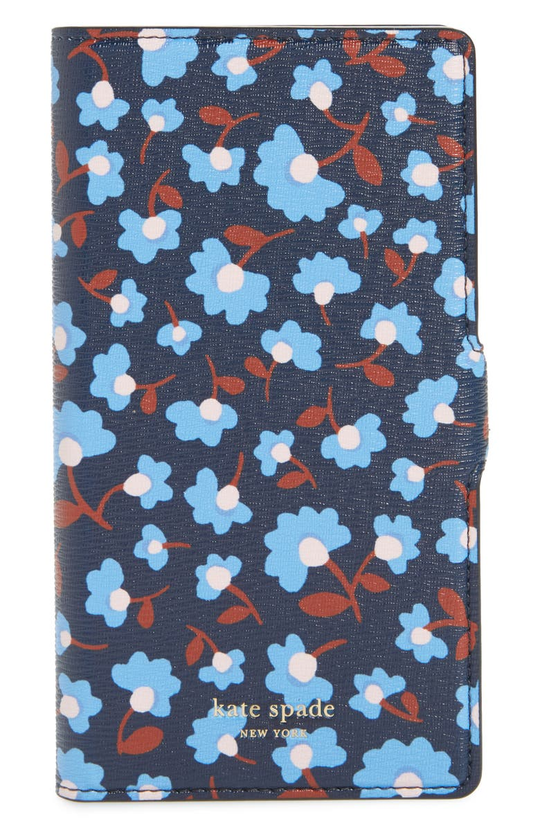 KATE SPADE NEW YORK silvia party floral magnetic wrap iPhone 11 Pro folio, Main, color, 429