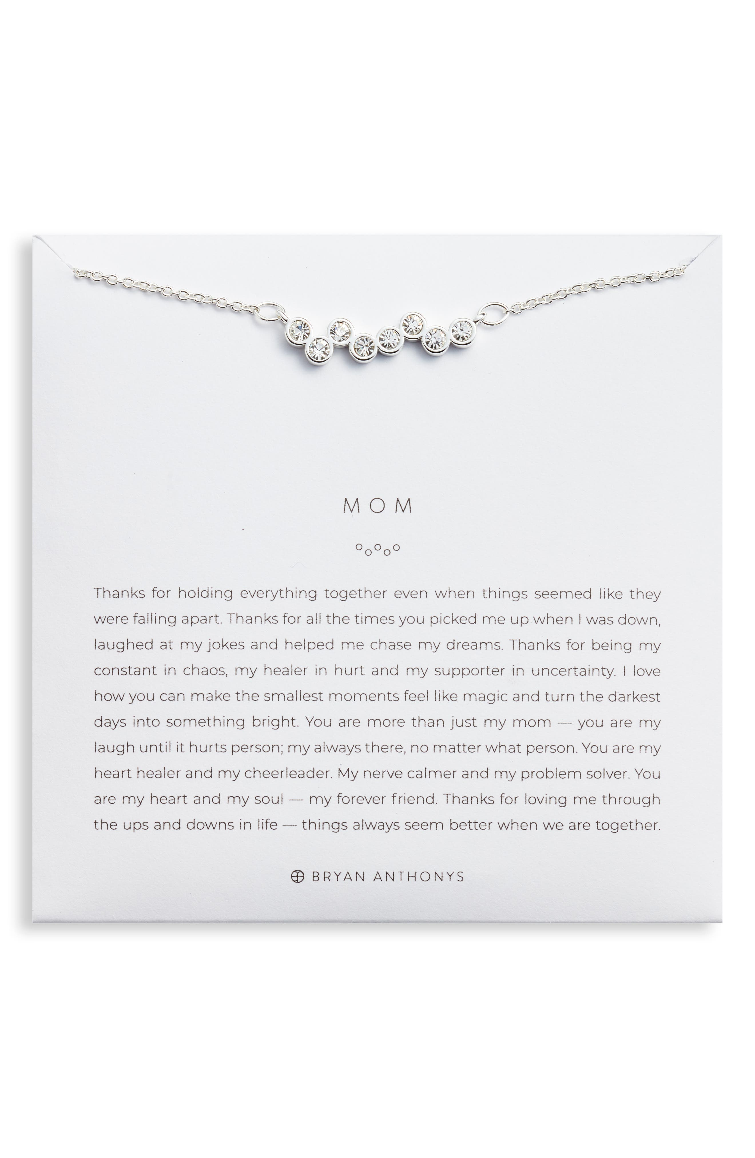 Mom Crystal Necklace