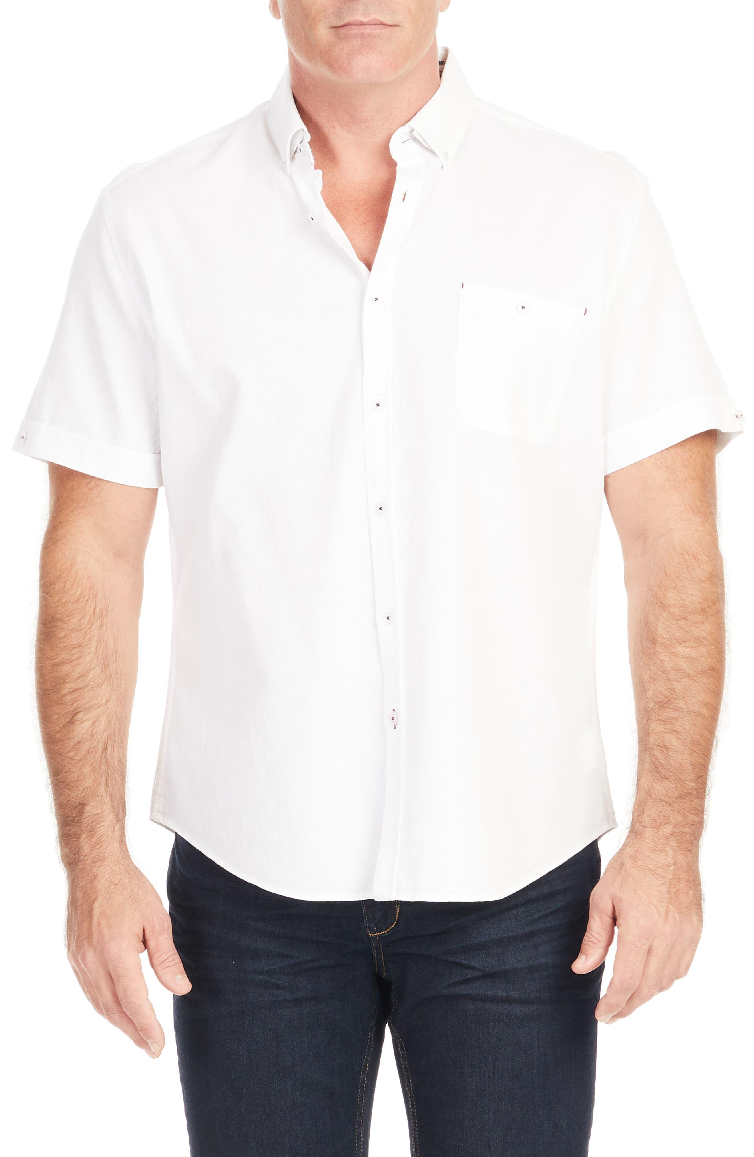 Rodney Textured Short Sleeve Button-Down Shirt