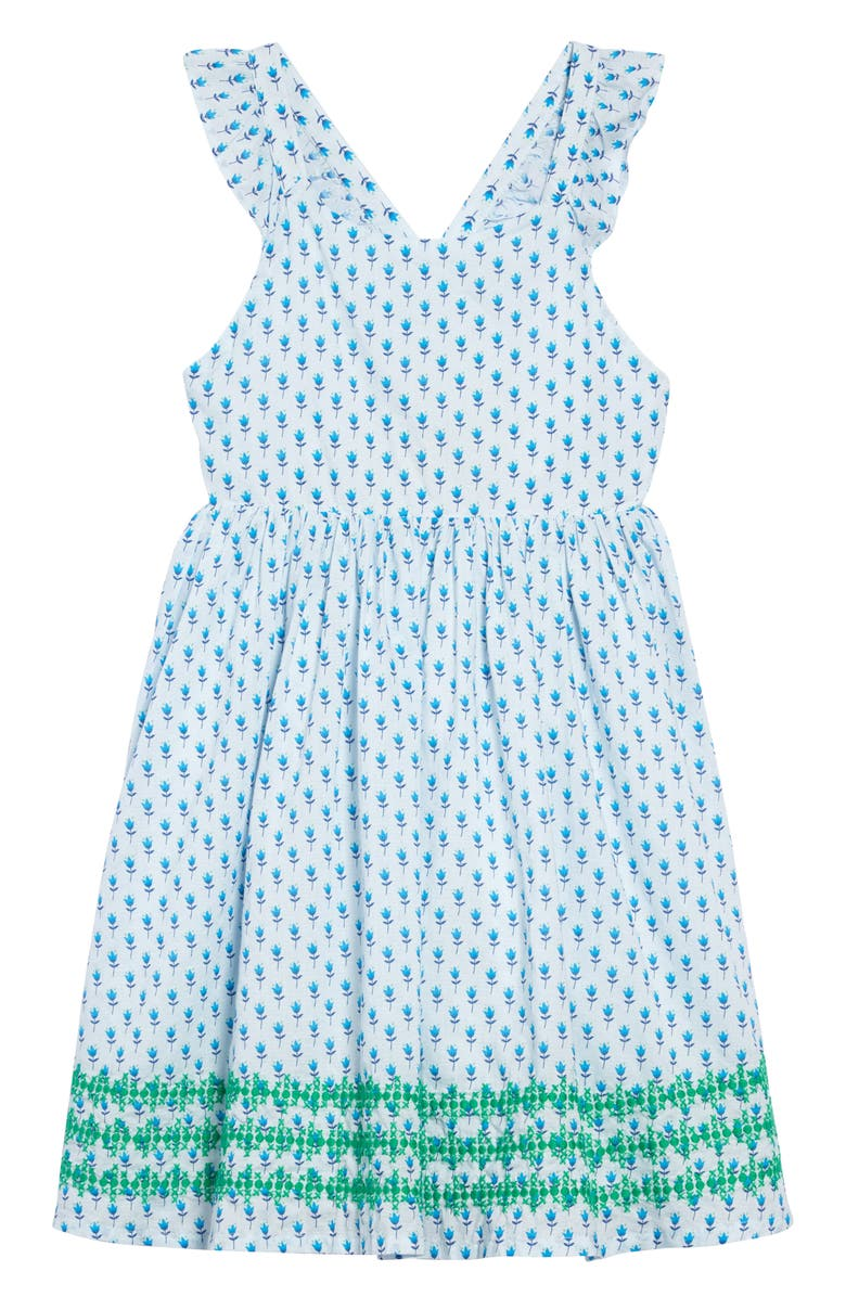 MINI BODEN Embroidered Cross Back Dress, Main, color, 454