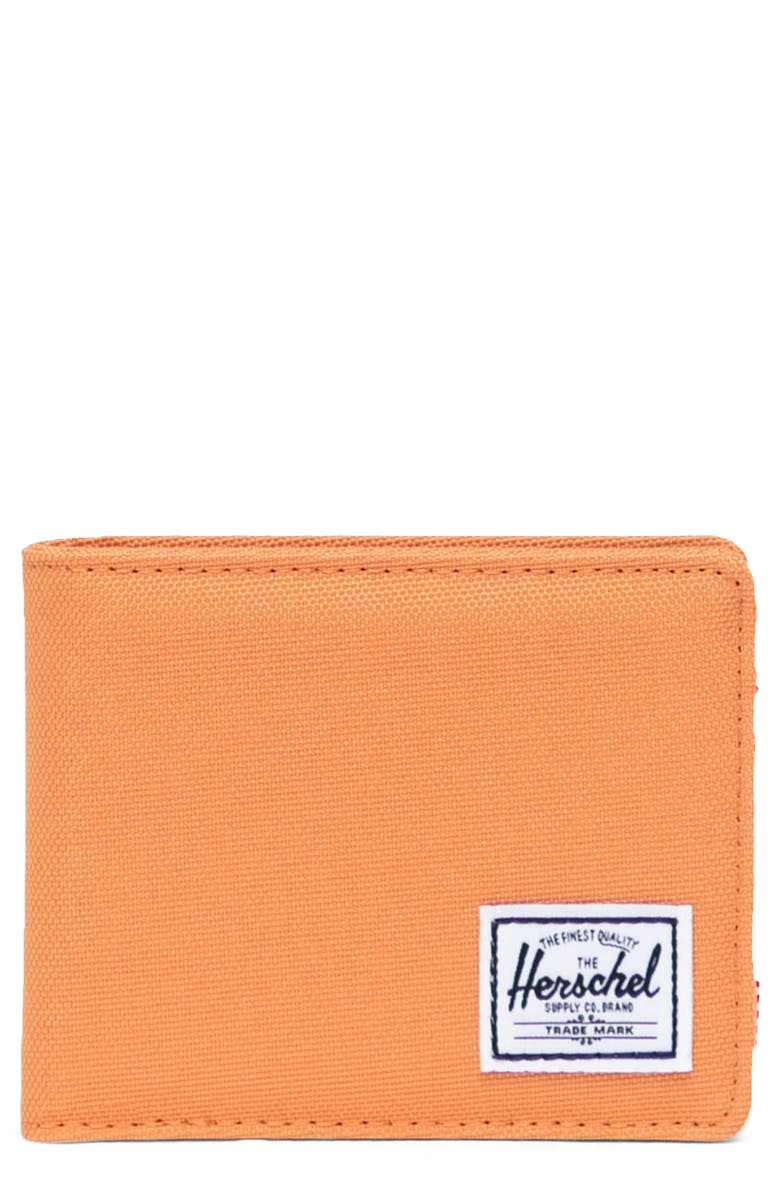 HERSCHEL SUPPLY CO. Roy RFID Wallet, Main, color, PAPAYA