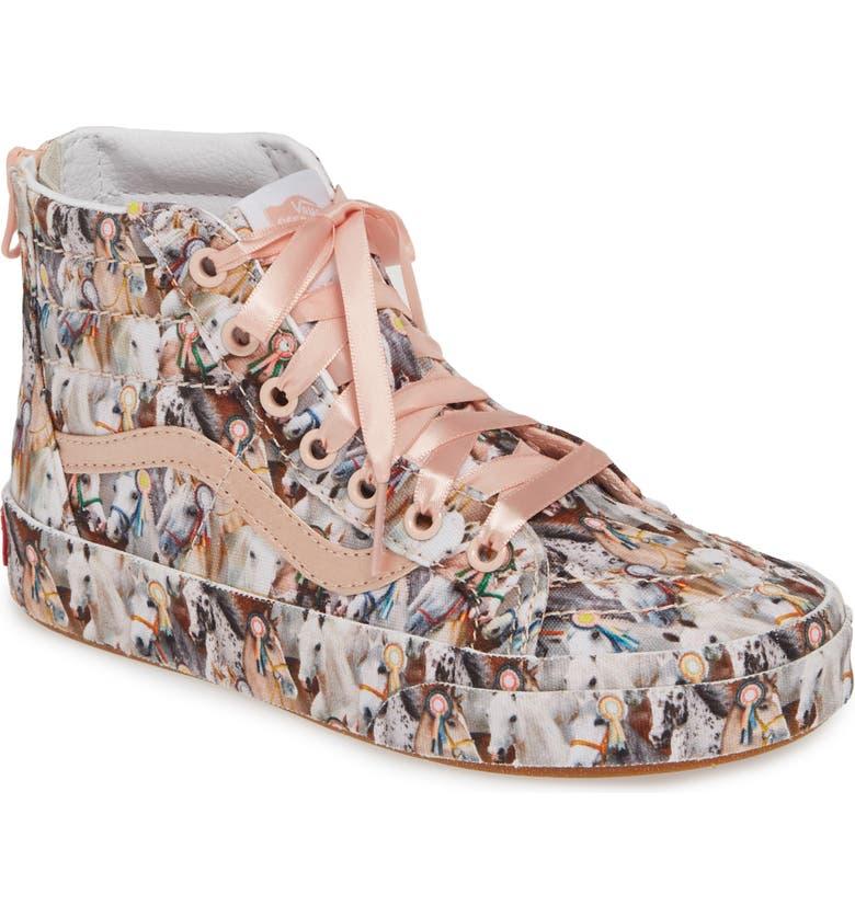 VANS x Molo Sk8-Hi Zip Sneaker, Main, color, MOLO SHOW HORSE