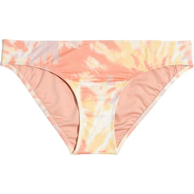 Plus Size Madewell Second Wave Hipster Bikini Bottoms, Coral
