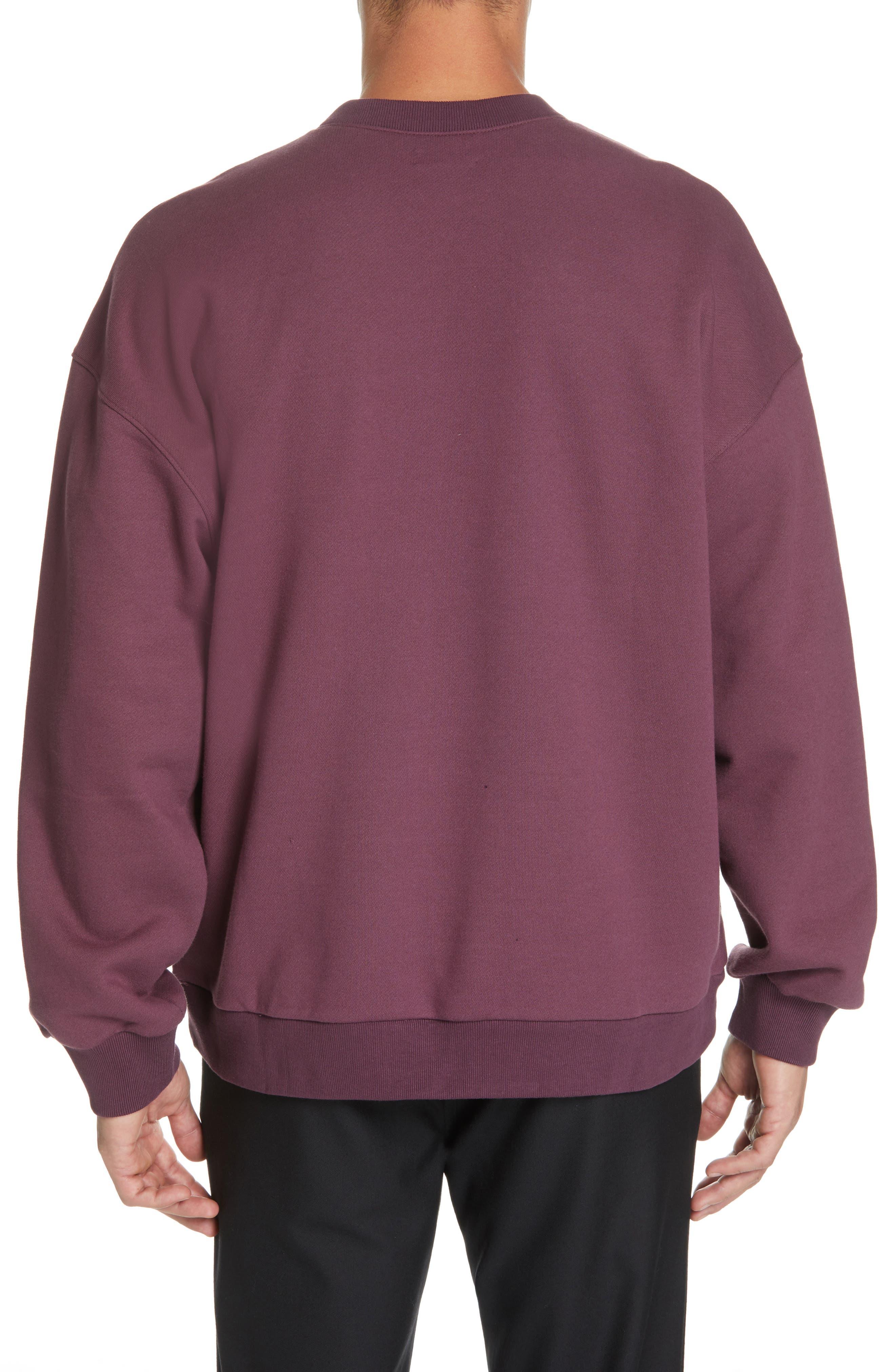 ,                             Oversize Crewneck Sweatshirt,                             Alternate thumbnail 8, color,                             930